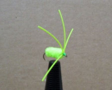 Bully Bluegill Spider | Chartreuse Fishing Lure | Bluegill Fly Fishing