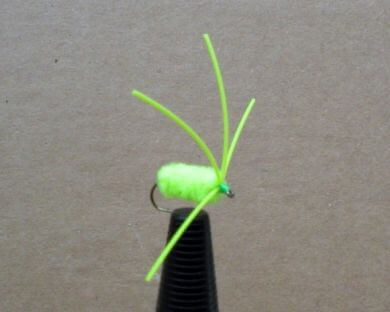 Bully Bluegill Spider | Chartreuse Fishing Lure | Bluegill Fly Fishing