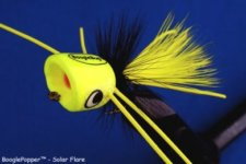 BooglePopper Solar Flare | Chartreuse Fishing Popper Lures | BreamBugs