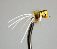 Walt's Bluegill Popper Yellow Bee #21