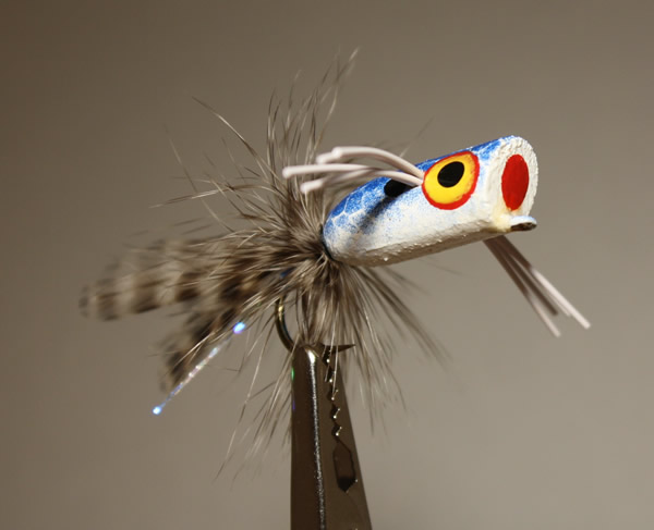 Pultz Bass Popper Blue and White