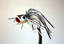 Pultz Bass Popper Black and White