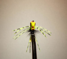Pultz Spider Legs Popper Chartreuse, Black, Chartreuse