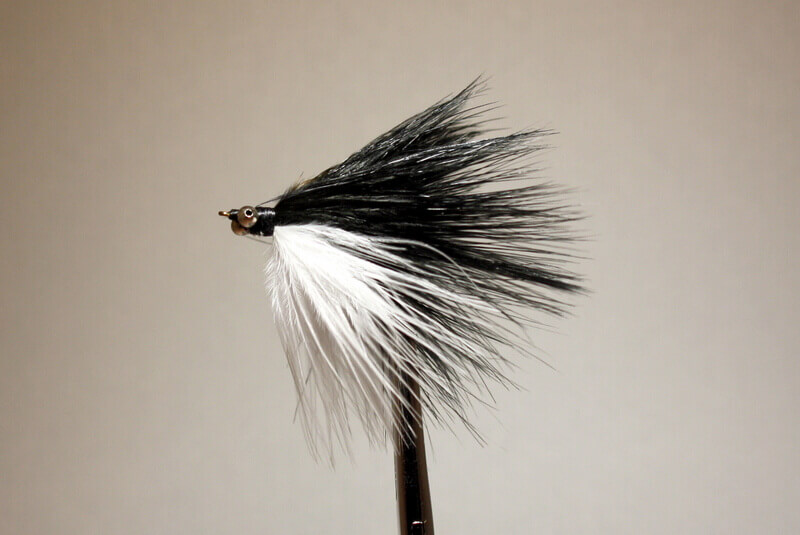 Marabou Skunk with long streamers (2 inches)