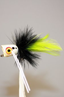 Peck's white, black, chartreuse by Pultz