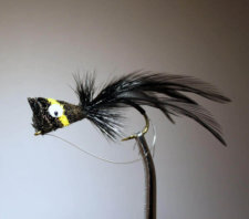 Hair Bug Frog black and yellow with weed guard.