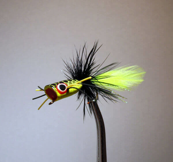 Pultz Mini Bass Popper Yellow/Chartreuse