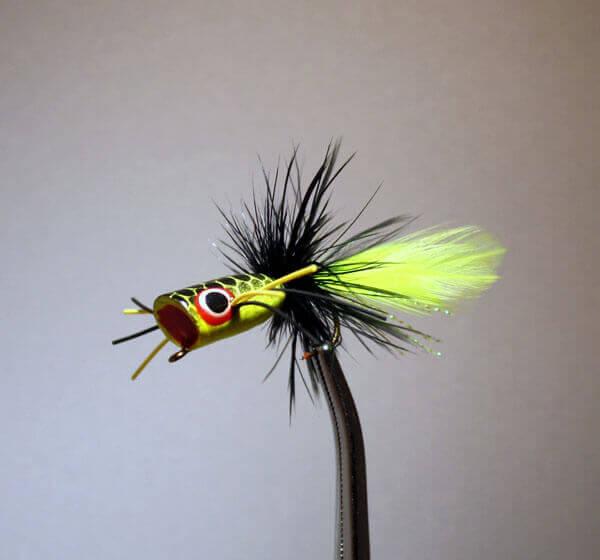 Pultz Mini Bass Popper Yellow/Chartreuse