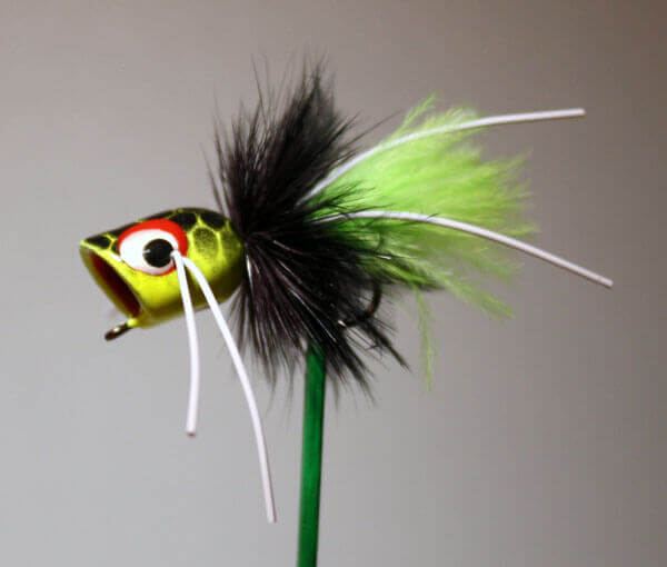 Chartreuse, Black, Chartreuse Spook by Pultz hook size 4