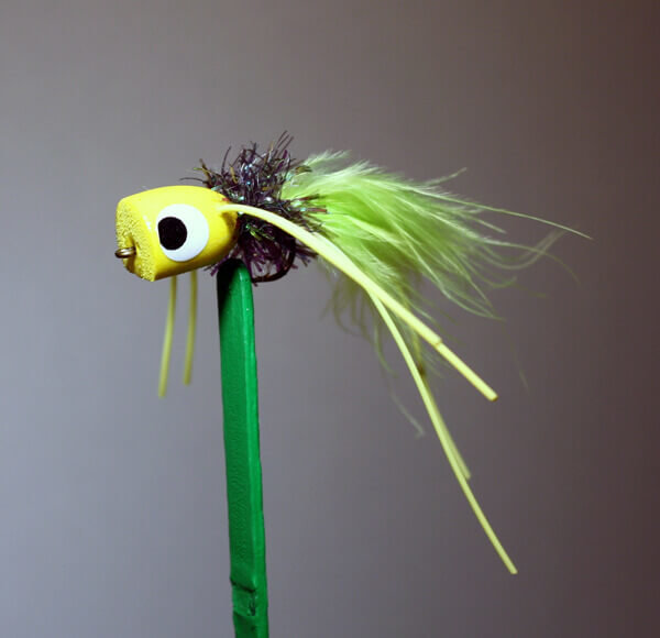 Sputter Bug Yellow, Black, Chartreuse for Bream