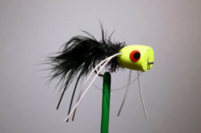 Sputter Bug Chartreuse Black For Bass