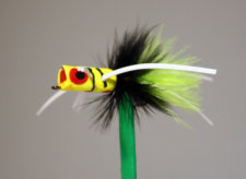 BoGo Bug Chartreuse, Black, Chartreuse with black stripes from Pultz Poppers