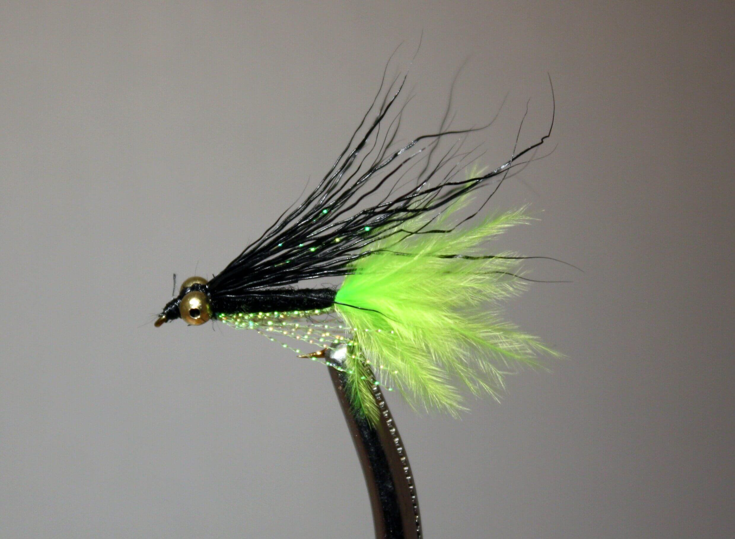 Crappie Candy Black and Chartreuse