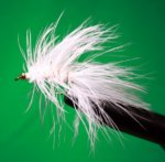 Woolly Bugger White with bead head