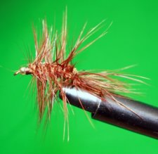 Woolly Bugger Brown with bead head