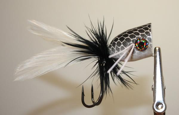Black and White Bass Popper
