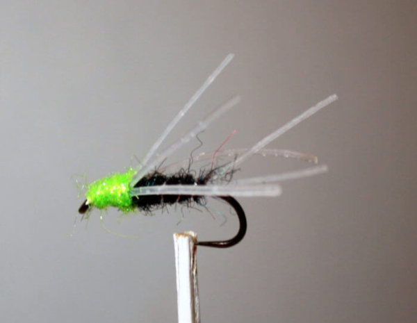 Mike's Mackie Bug Black and Chartreuse #8