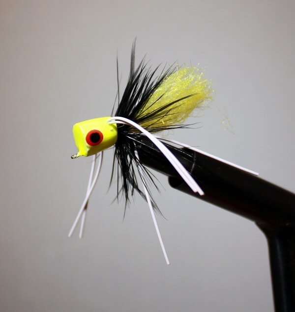 Accardo Blue Gill Special REPRODUCTION Chartreuse, Black, Chartreuse.