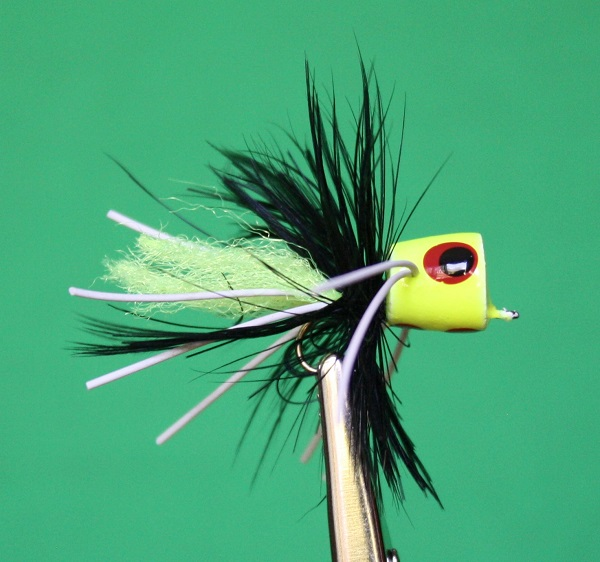 Accardo Blue Gill Special REPRODUCTION - Chartreuse, Black, Chartreuse