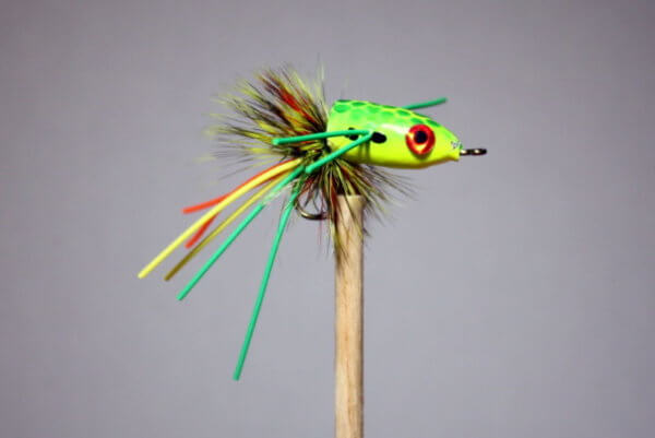 This Fire Tiger for Bream is made like the classic Fire Tiger Popper with the same brilliant colors. A BreamBugs exclusive.