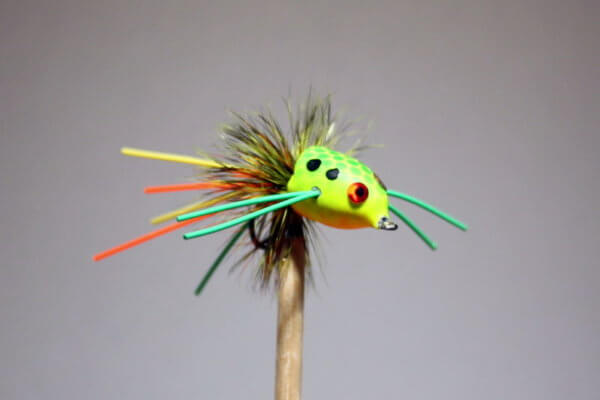 This Fire Tiger Slider for Bass is made like the classic Fire Tiger Popper. This slider has a little larger body than the Fire Tiger Slider for Bream. Brilliant colors, a BreamBugs exclusive.