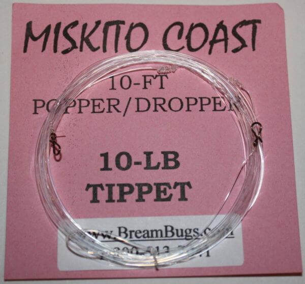 Miskito Coast 10 lb test Popper/Dropper Rig