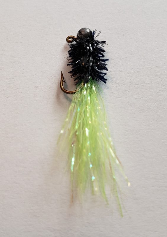 Crappie Diver Jig, Chartreuse and Black