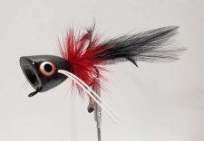 Peck's Popper Black, Red, Black 1/0 by Pultz